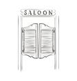doodle saloon vector image