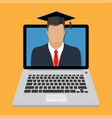 online learning and education vector image