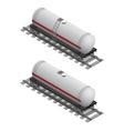 Railway Tank Isometric View vector image