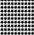Seamless pattern with black stars on white backgro vector image