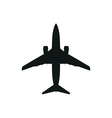 simple black Plane icon on white background vector image