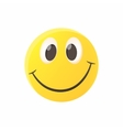 Smiling emoticon icon cartoon style vector image