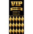 vip club party premium invitation card flyer with vector image