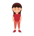 avatar little girl cartoon vector image