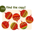 Christmas colorful baubles set in patchwork style vector image