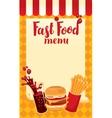 menu price fast food vector image