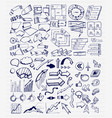 mega collection of hand drawn arrow charts vector image vector image