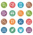 SEO Internet Marketing Icons Set 1 - Dot Series vector image vector image