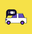 flat icon design collection car and engine vector image vector image