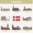 Denmark Symbols of cities vector image