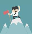 Businessman planting flag high Peak vector image