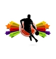 basketball team sign isolated vector image vector image