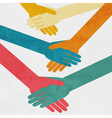 handshake background vector image vector image