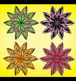 Natural seasonal geometrical flower symbol vector image
