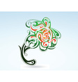 tattoo flower vector image vector image