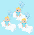 baby boys triplets vector image
