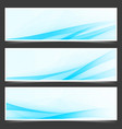 Blue unique abstract wave swoosh header vector image