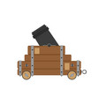 cannon war civil artillery gun icon vintage vector image