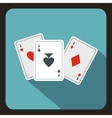 Playing cards icon flat style vector image