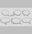 speech bubbles icon set hand drawn on isolated vector image