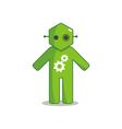 Hexagon Man - My Life Like Robot vector image vector image