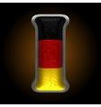 Germany metal figure i vector image vector image