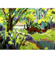 Original oil painting landscape with tree vector image