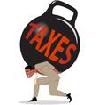 Burden of taxes vector image