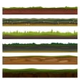 Seamless different grounds soils and land set for vector image