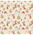Christmas elements handdrawn seamless big vector image