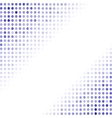 Dotted Blue Background Halftone Pattern vector image