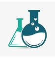 laboratory flask over white background vector image