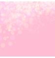 Pink shines wedding love bokeh vector image