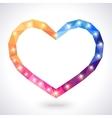 Romantic polygonal heart frame vector image
