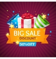 Sale Card with Gift Box vector image
