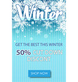 winter sale text banners for december shopping vector image