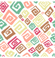 pattern with abstract simply square elements vector image vector image