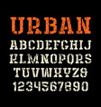 stencil-plate serif font in urban style vector image