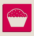 cupcake sign grayscale version of popart