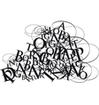 Typographical Letters vector image
