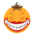 Strange smiling toothy smiley vector image vector image