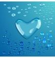 Waterdrop Heart vector image