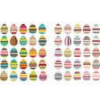 Big set with different eggs vector image vector image