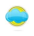 cloud circle logo vector image vector image