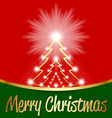 christmas tree with candle lights vector image vector image