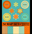 Buttons scrap set vector image
