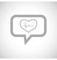 Cardiology grey message icon vector image