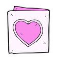 comic cartoon love heart card vector image
