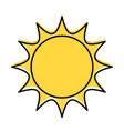 cute cartoon sun baby shower decoration vector image