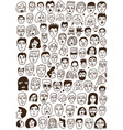 faces doodles set vector image